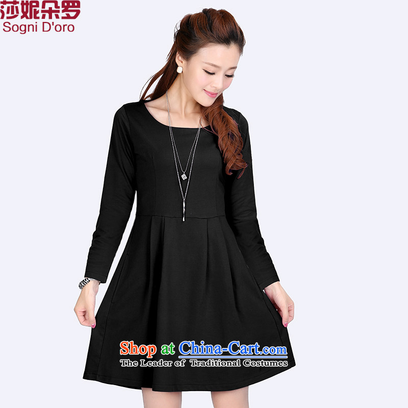 The latte macchiato, Shani to xl dresses thick sister autumn 2015 installed new long-sleeved thick, Hin thin, 6,632 long-sleeved black 6XL