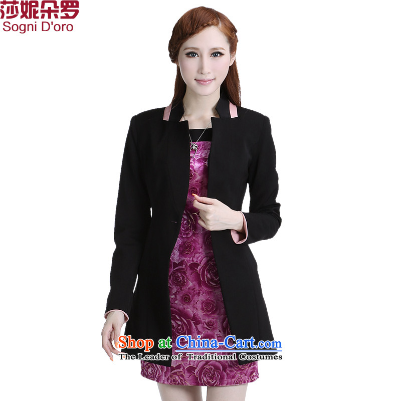 Shani flower, thick plus fertilizer xl female thick mm2014 autumn and winter load new OL commuting to suit Korean small black�L 6335 jacket _recommendation to select a small one-size_