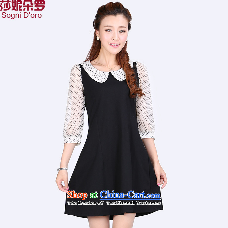 Shani flower lo xl female thick Korean mm2015 new fall inside the skirt for thin, video baby girl _BLAC_ examined 6 601 Black�L