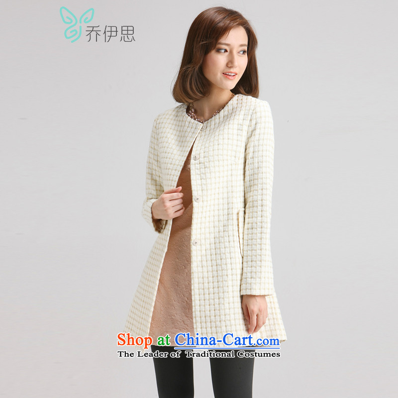 The League of Joe autumn and winter female thread-flower in long Sau San Wild Hair??the white?M JL442001 Jacket