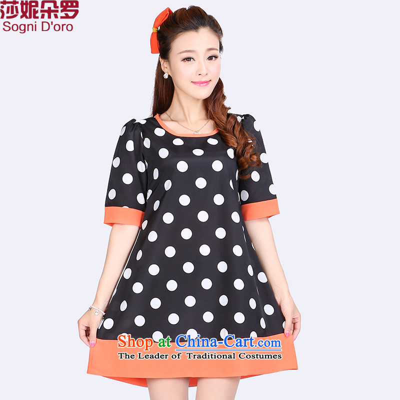 The latte macchiato, Shani to increase women's code thick sister summer new thick, Hin thin, The chiffon dresses were 8 709 discharges from black�L