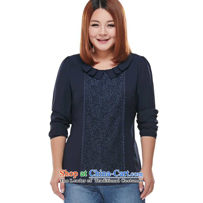 Maximum number of ladies' woven shirts shirt Tibet snow�L blue