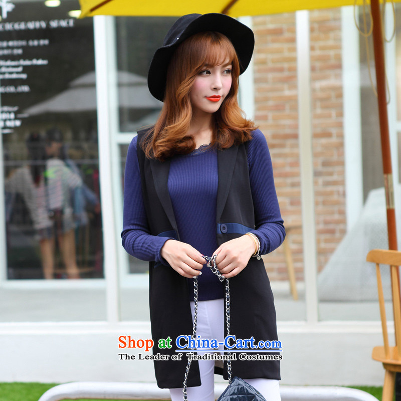 Optimize for a women's XL 2014 mm thick with Korean autumn new thick sister sleeveless jacket, a black燲XXL Jacket