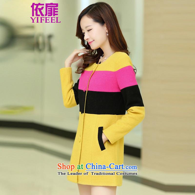 According to the bi 2015 autumn and winter for women Korean gross? coats wool coat female YF926? Yellow?M