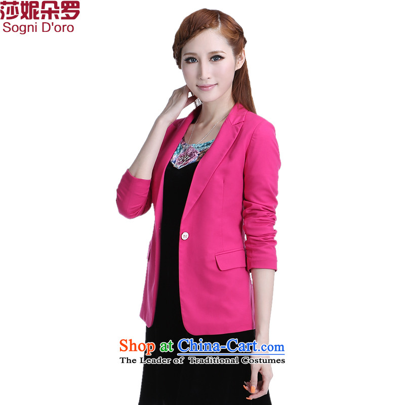 Shani Flower Lo 200 catties of thick xl female jackets for winter sister thick new graphics thin suits V-Neck small suit Female 6332 picture version - the Red?4XL commuter video thin - it is recommended that you select a small code