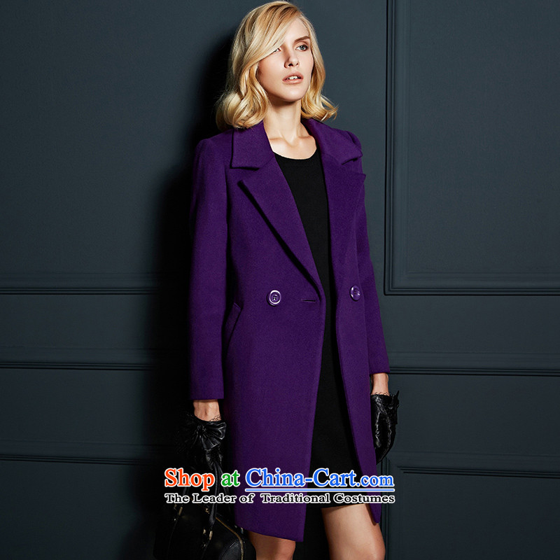 Labortex cards larger long wool coat? purple L