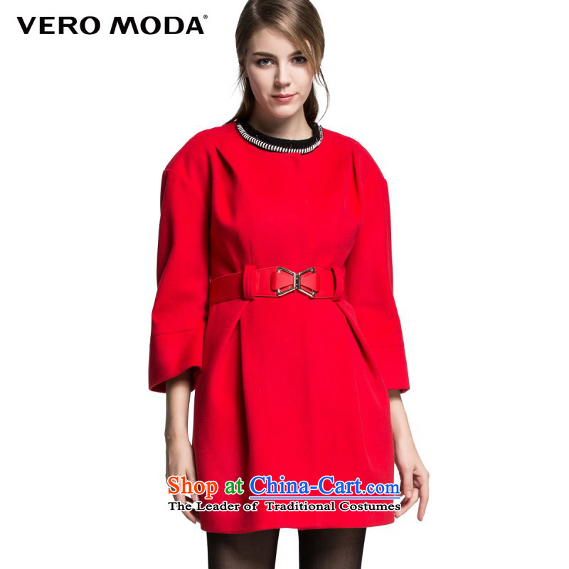 Vero moda included wool stack folds round-neck collar A field with a score of 9 female Sau San Mao jacket |314427004 cuff? 074�0_88A_L red