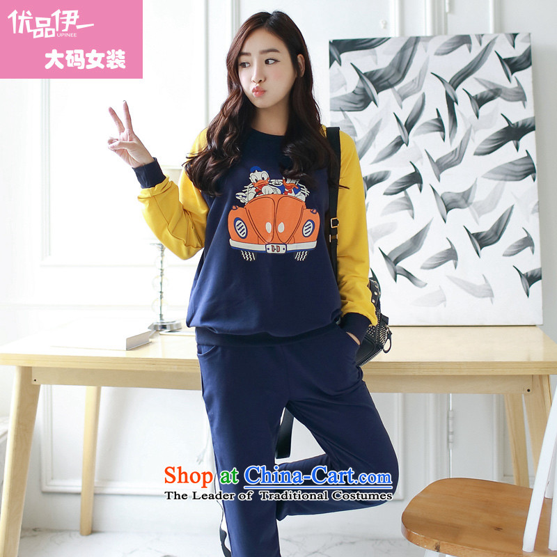 Optimize for a women's XL 2014 mm thick with Korean autumn new stamp thick sister video thin red燲XXXL leisure wears