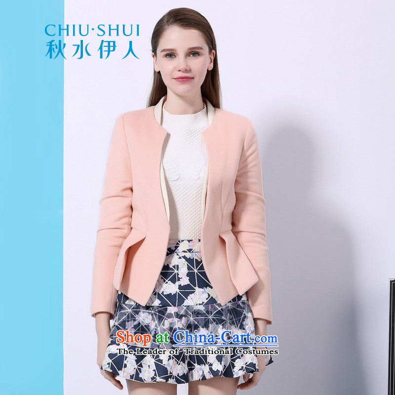Chaplain who winter clothing new wind deduction suits waistband decorated jacket female�41E120005 Sau San牋170_92A_XL Pink