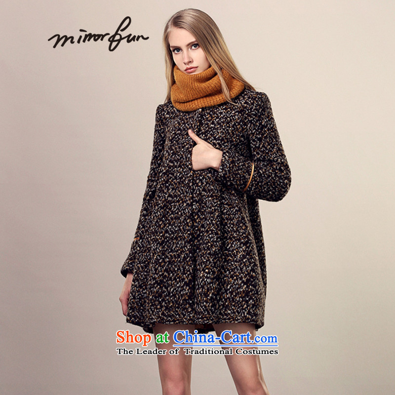 Mirror FUN for winter 2015 new doll A swing tweed coats Xuan grass WONG燤