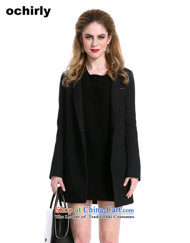 The new Europe, ochirly women in irregular long suit wool overcoats 1143344510? black M_165_88a_ 090