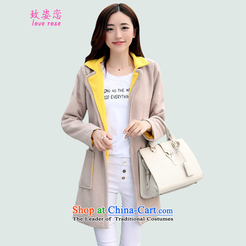 In 2014 Winter Land Gigi Lai new coats female Korea gross? Edition_ for larger gross winter suit coats jacket?? picture color coats of _?L