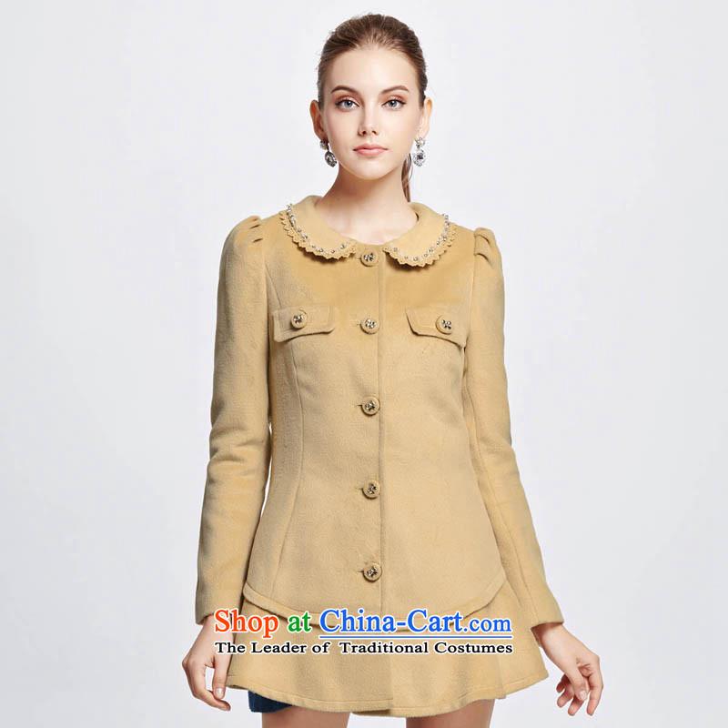 Chaplain who winter clothing New Women Korean fashion dolls for Sau San coats1341F121213175_XXL Beige Brown