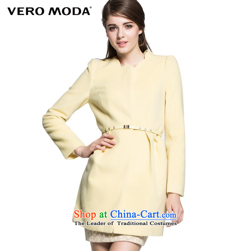 Vero moda soft petal collar flower bud-long coats |314427015 female hair? 052 BUFF�0_80A_S
