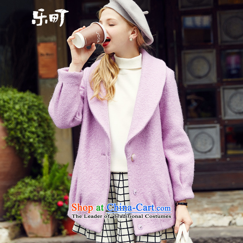Lok-machi 2015 winter clothing new date of women caught in long coats CWAA44261 PURPLEM