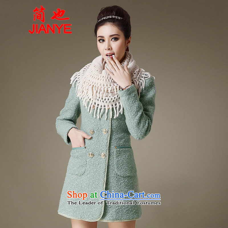 Jane聽 Winter 2013 also new women Korean ol Sau San a wool coat autumn and winter coats that gross temperament 8,850 green beans聽M