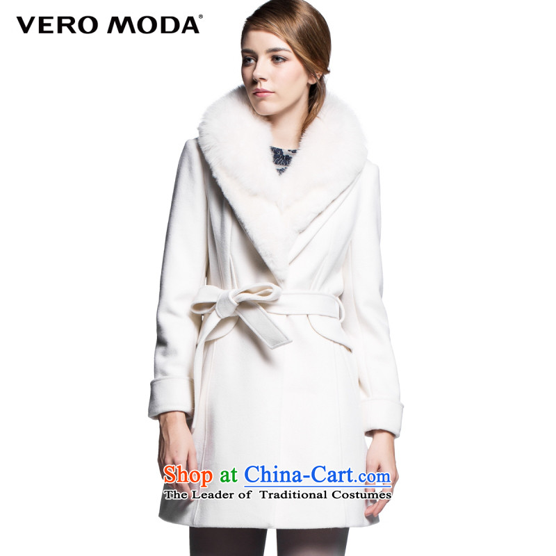 Moda vero fox gross for reverse collar Foutune of Sau San in long wool coat |314427018 gross? 020 white�5_84A_M