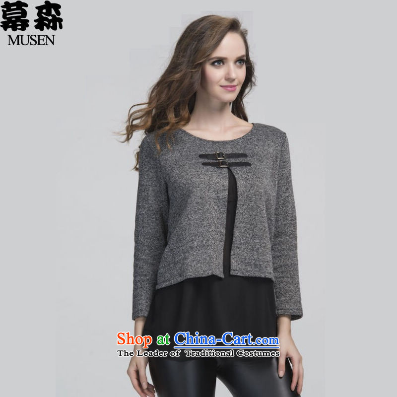 The sum to increase women's code 200 catties Fall_Winter Collections thick mm cloak leave two kits T-shirt shirt video thin gray jacket�L