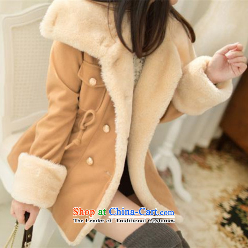 Sari poem by 2015 autumn and winter new women's Korea women on new video   winter thin double-fall and winter coats gross?WT1876Lockhart colorXL