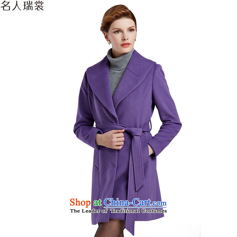 Celebrity Rui Qiu New Advisory 2015 simple urban air-coats DW52140073 gross violet燲XXL?