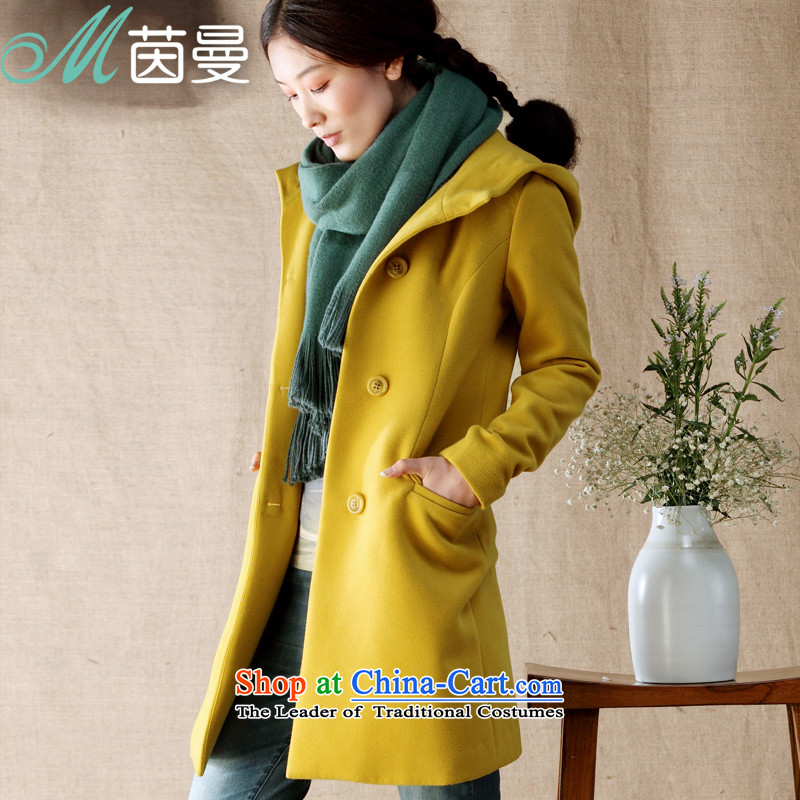 Athena聽Chu replacing gross Cayman 2015? a female jacket coat Gross _8343200264 jacket coat?- Yellow聽L