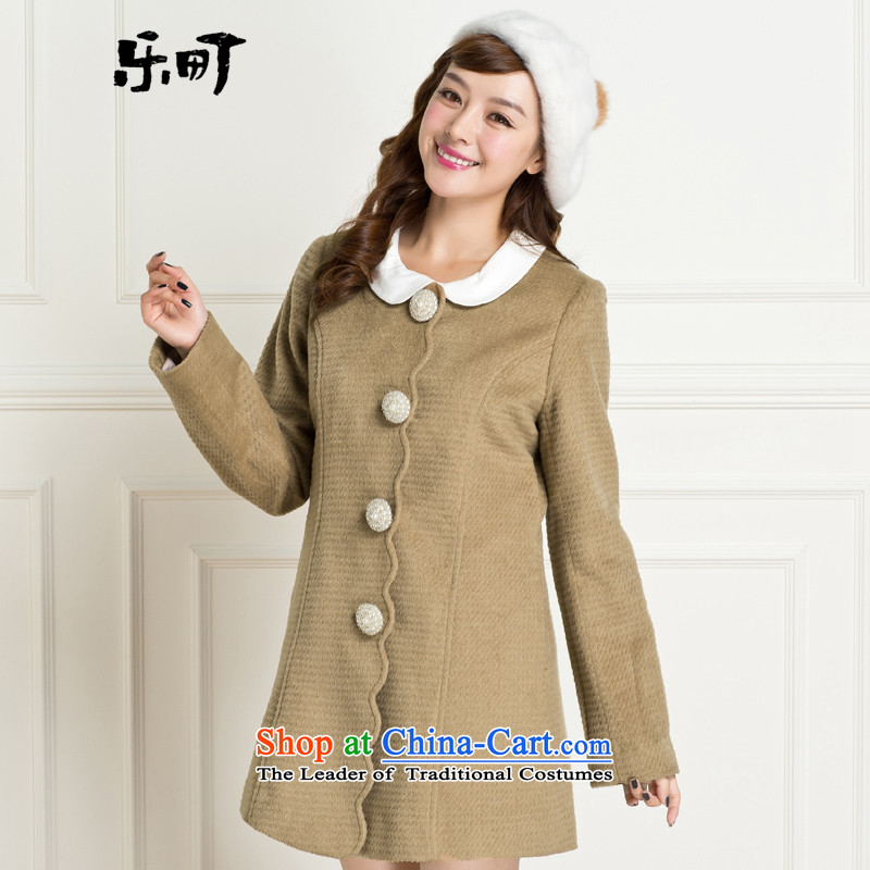Lok-machi 2015 winter clothing new date of female ceramic flap C1AA34721 coats and color燣