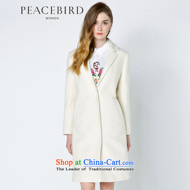 - New shining peacebird women's health and simple coats A4AA44407 white聽S