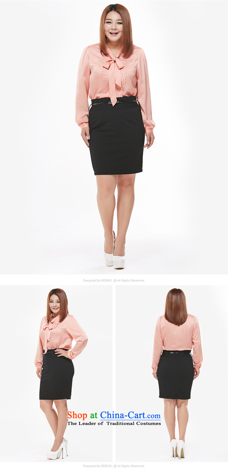 Msshe xl female body skirt autumn 2015 Graphics thin body skirt attire OL waist belts to dress up 120829 black聽T4 picture, prices, brand platters! The elections are supplied in the national character of distribution, so action, buy now enjoy more preferential! As soon as possible.
