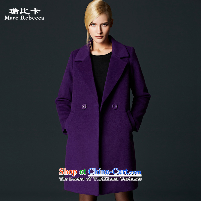 Labortex card jacket coat? female gross larger in long wool a wool coat jacket coat female Purple Hair??S