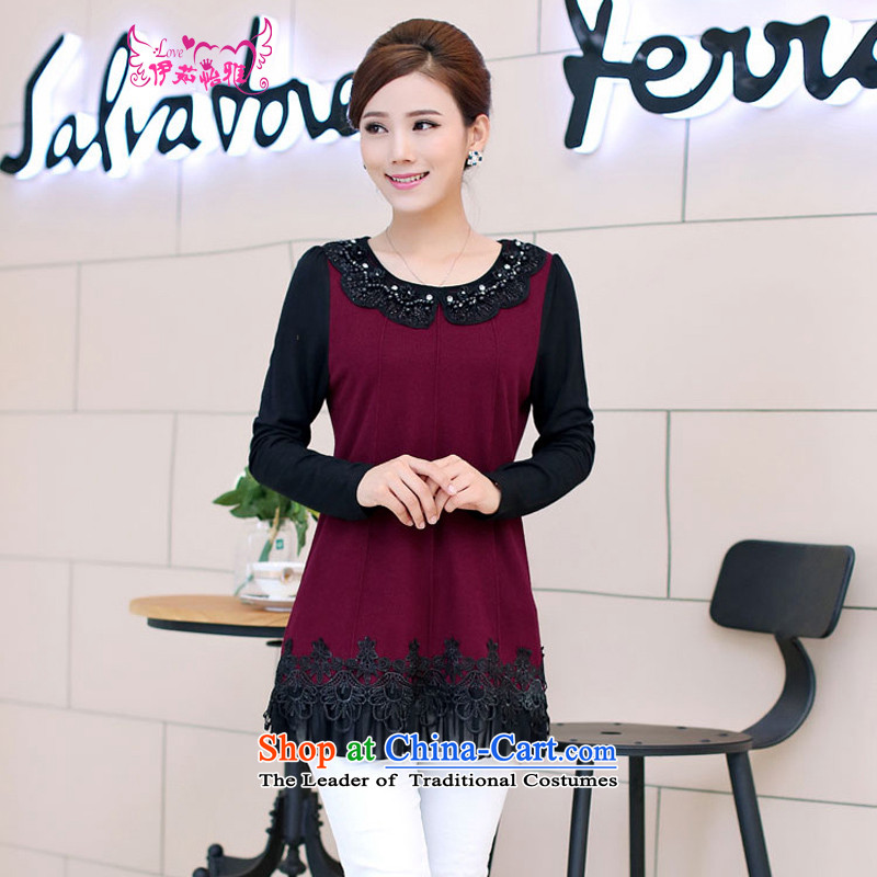 El-ju Yee Nga�15 autumn and winter new stylish Korean version of lace knitting cuff wild forming the Netherlands YY6585 chestnut horses燲L