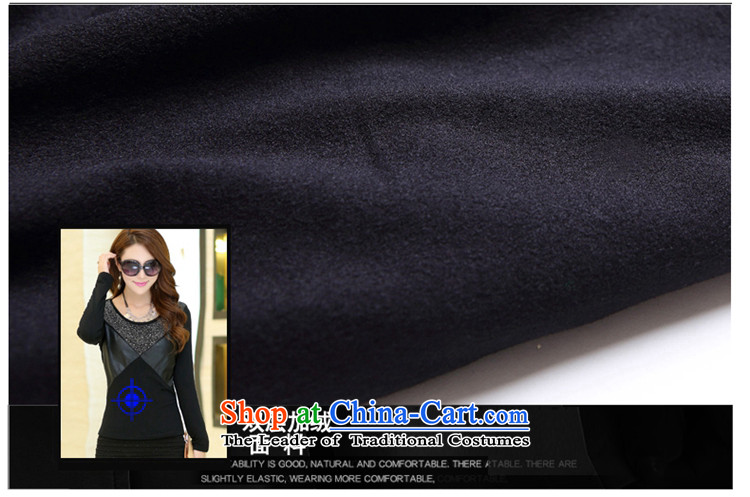 Large ZORMO female autumn and winter), forming the thick shirt lint-free PU ironing drill stitching to xl thermal underwear black4XL 160-180 catty picture, prices, brand platters! The elections are supplied in the national character of distribution, so action, buy now enjoy more preferential! As soon as possible.