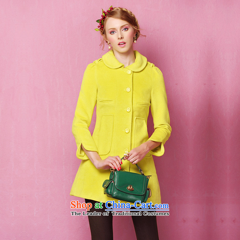 The Secretary for Health-care lady of the OSCE long-sleeved jacket YellowM wool?