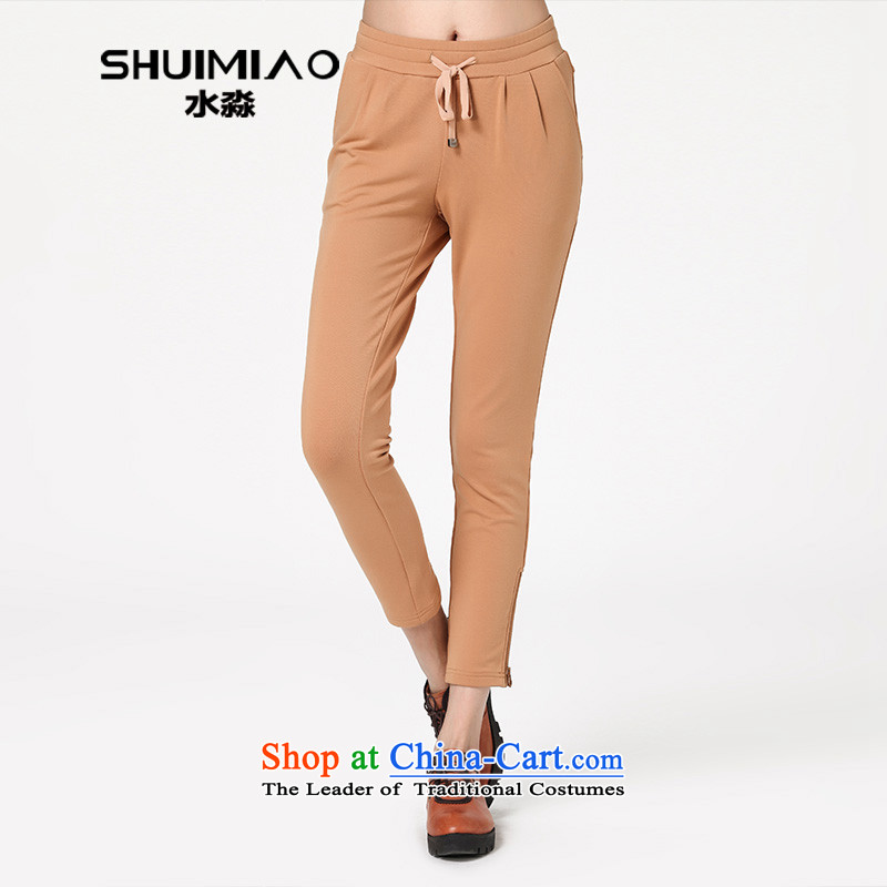 The representative of the 2014 Autumn Water, the major new code in waist pant relaxd graphics thin casual pants trousers S14QW3593 female card its XL