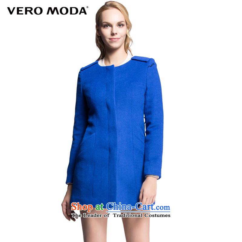 Moda vero pure color with wool crisp, long, Ms. Sau San long-sleeved coats |314327021 gross? 031 dark blue160_80A_S