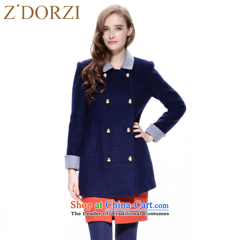 Zdorzi colorful Cheuk-yan winter small plane collision colors 928E035 sapphire blue jacket? M