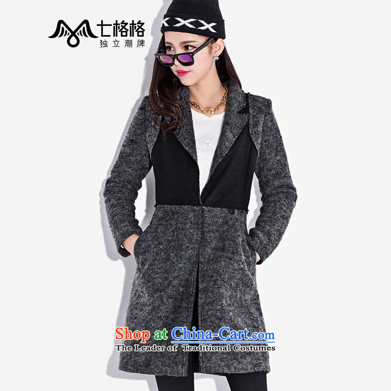 (Non-dual- 7 December for winter Princess Returning Pearl new three-dimensional construction video thin wool coat women so Sau San carbon XL code - Sau San Edition