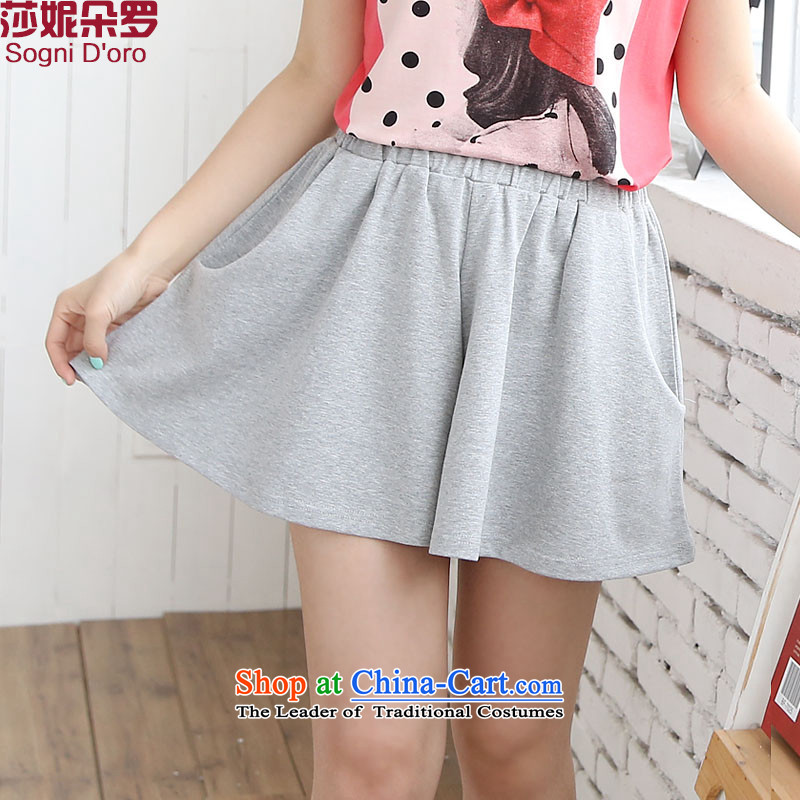 For a limited time as soon as possible large clearance female thick mm Summer 2014 elastic waist skirts New Pants leisure loose 6712 gray3XL Shorts