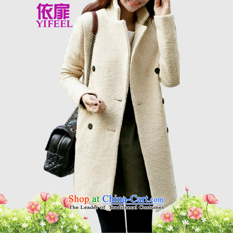 ? C.O.D. ? To check the�15 autumn and winter new simple and stylish coat in long hair? For Women Korean female jacket coat wool? YF002 m White燣