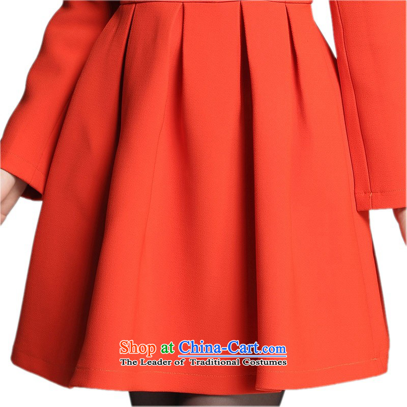 C.o.d. xl autumn and winter dresses Korean OL elegance knitting Foutune of long-sleeved skirt thick mm thin forming the graphics skirt lady white collar skirt black聽2XL appears at paragraphs 145-155, land around 922.747 yet El Yi shopping on the Internet