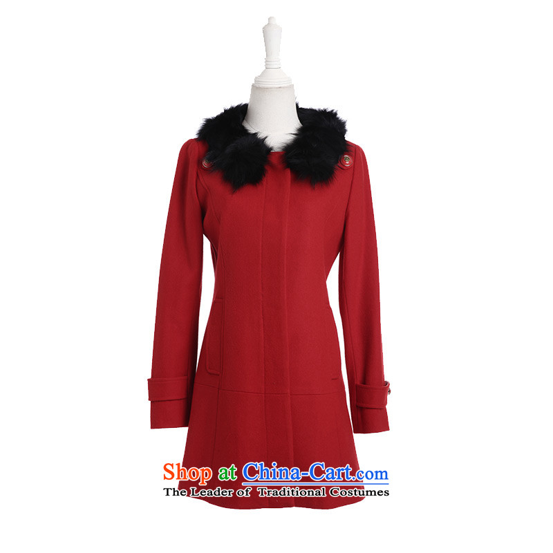 3 Color luxury warm for a selection of Gross Gross elegant pure colors? wild in long coat female red L_165_88a