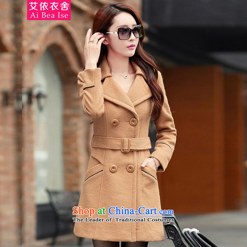 Ms Audrey EU HIV better 2015 autumn and winter new Korean jacket in Sau San long hair? coats and color 8004 female?XXL