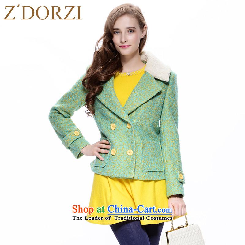 Zdorzi colorful Cheuk-yan autumn and winter Short, sweet spots for gross Sau San suit coats 928E040? LAKE blue燣