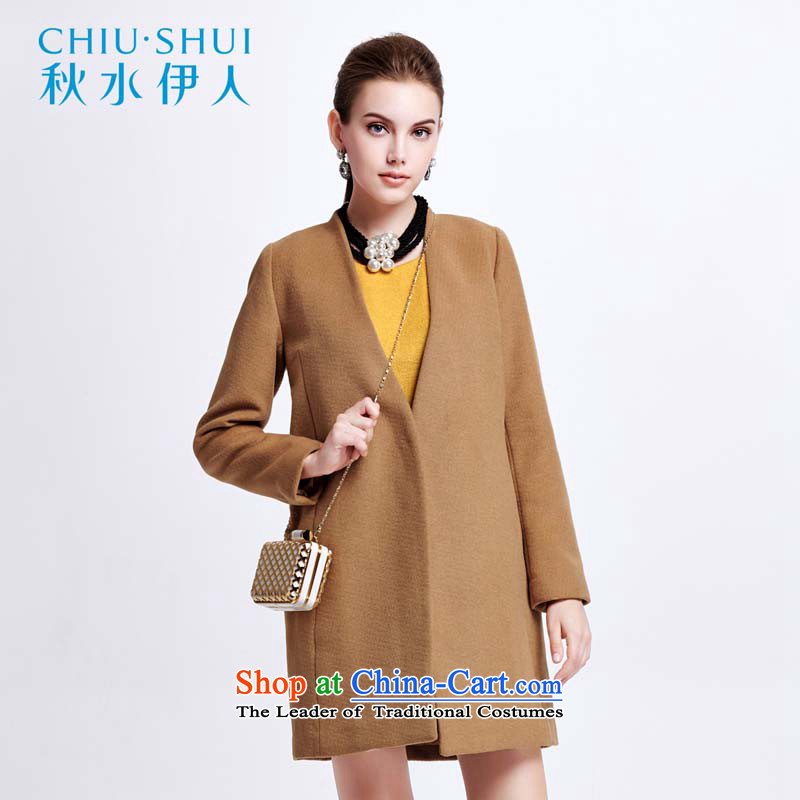 Chaplain who female Korean Solid Color Wild Side Marker-clip cotton wool coat�44S122019?燽rown�0_XL Beige
