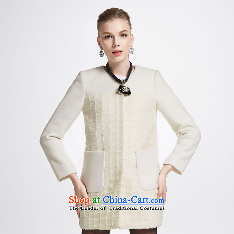 Chaplain who female stylish pure color, Waffle OSCE root yarn coats�4112088 gross?燽eige�0_M