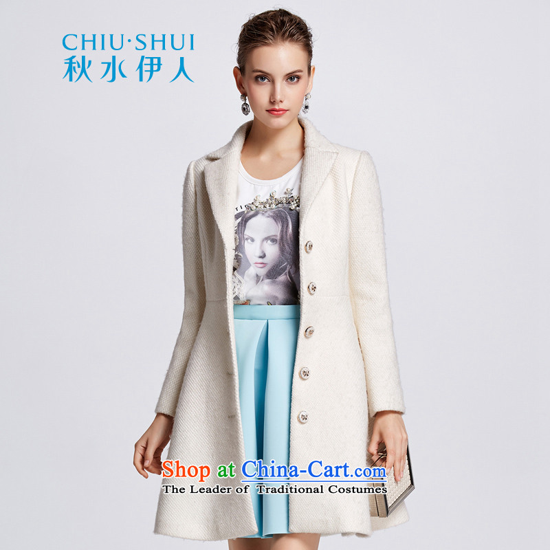 Chaplain who pure color wild temperament gentlewoman Sau San video thin coat long coat爐he white�5_L 644112158