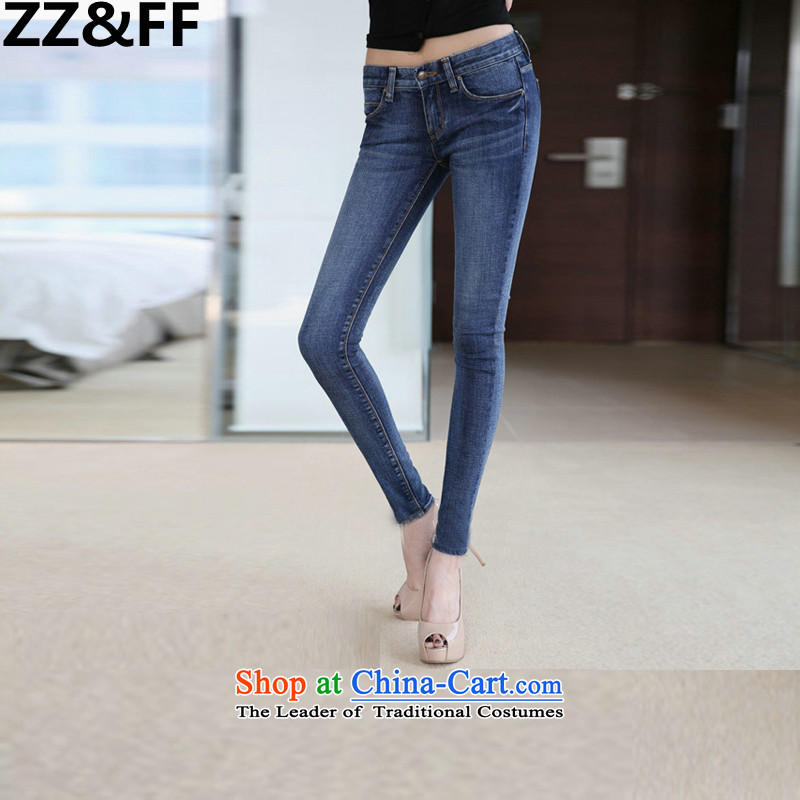 Install the latest Autumn 2015 Zz_ff_ to increase the burden of thick mm maximum 200 women who are video decode thin Jeans Wear pants length pants color picture�