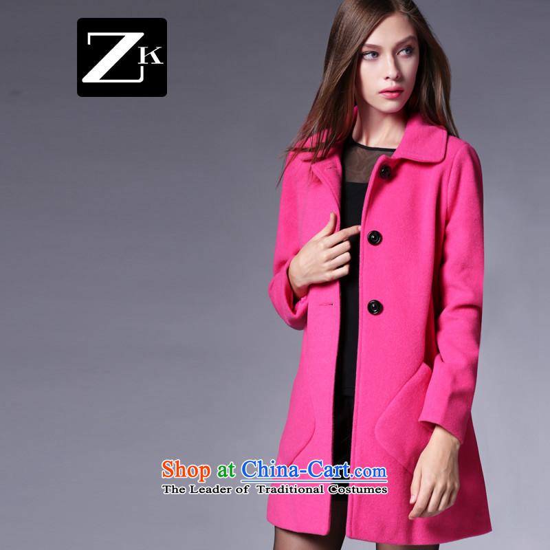 Zk Western women�15 Fall_Winter Collections new suit for girls in gross? jacket long coats gross? a wool coat red燣