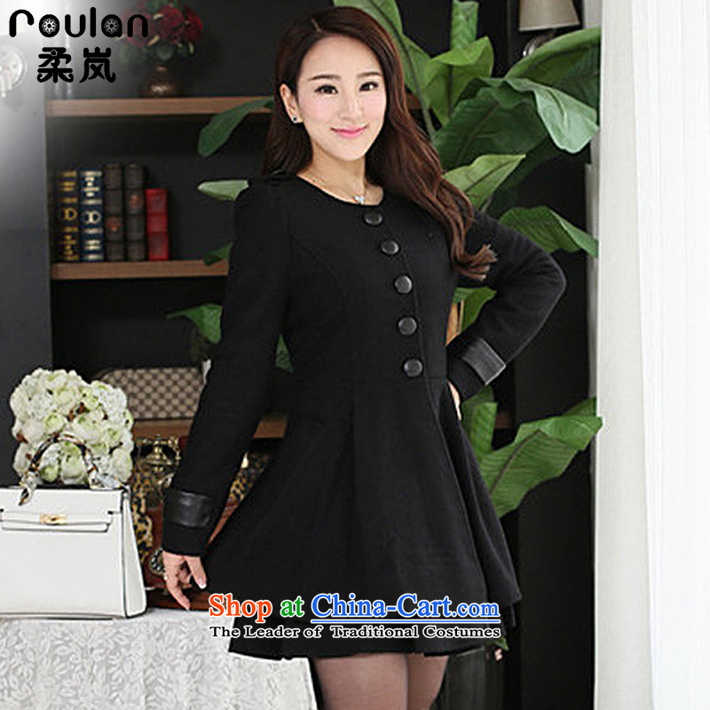 Sophie 6XL sponsors to intensify the thick MM Korean Code 2015 autumn and winter for women new graphics thin hair a jacket 6XL 662 Black 4XL