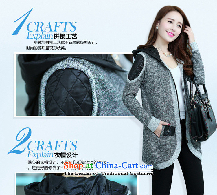 Sophie sponsors to intensify the code of ladies' knitted cardigan 2015 autumn and winter new women's thick MM female Korean Wind Jacket Color Plane Collision light sweater female 827 Gray 4XL Photo, prices, brand platters! The elections are supplied in the national character of distribution, so action, buy now enjoy more preferential! As soon as possible.