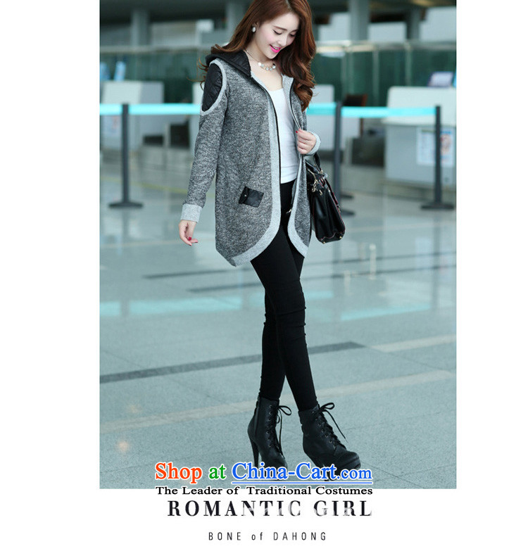 Sophie sponsors to intensify the code of ladies' knitted cardigan 2015 autumn and winter new women's thick MM female Korean Wind Jacket Color Plane Collision light sweater female827Gray4XL Photo, prices, brand platters! The elections are supplied in the national character of distribution, so action, buy now enjoy more preferential! As soon as possible.
